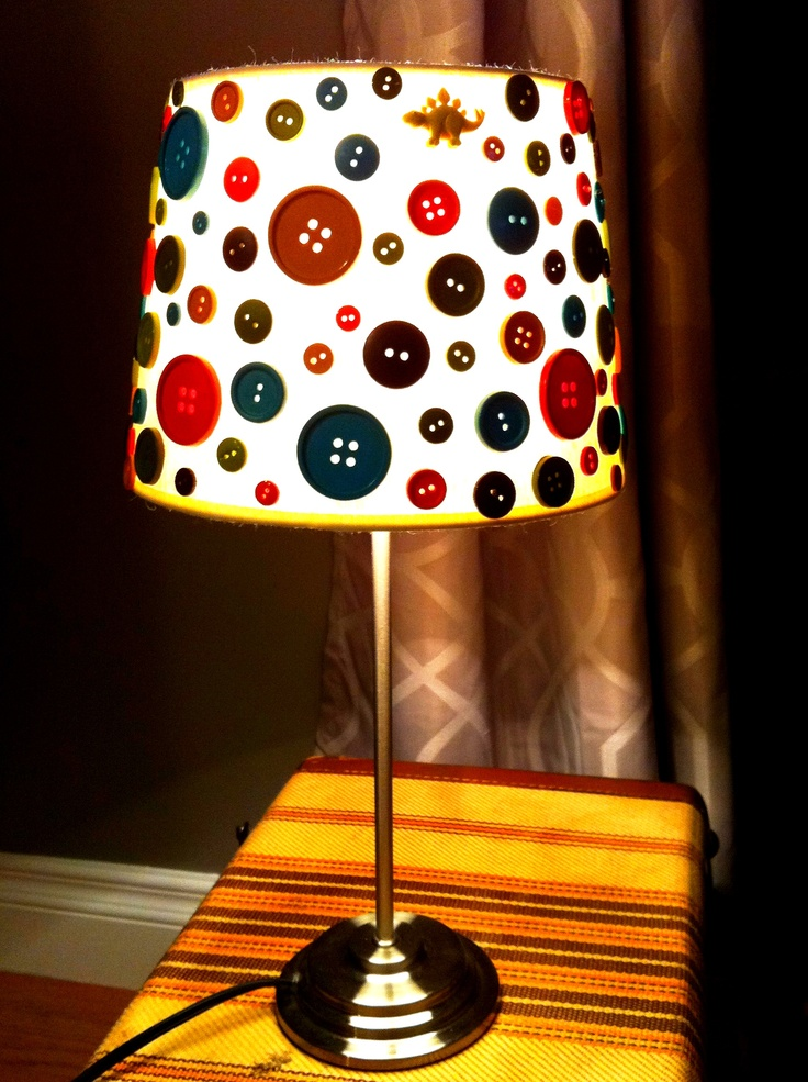 A button lamp I made for my soon-to-be nephew! Due in March! It's never too early to make arts & crafts ;)
