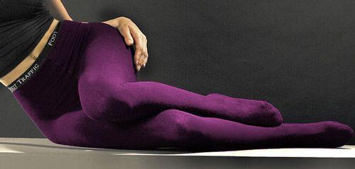 Cotton Purple Tights