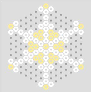 Pastel Hama Bead Snowflake Patterns | BeadMerrily Hama Bead Designs