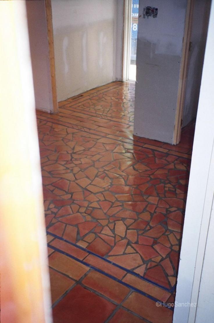 Crazywork terracotta floors | Céramiques Hugo Sanchez Inc