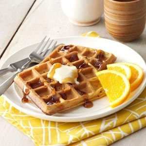 Buttermilk Pumpkin Waffles from Taste of Home -- shared by Charles Insler of Silver Spring, Maryland
