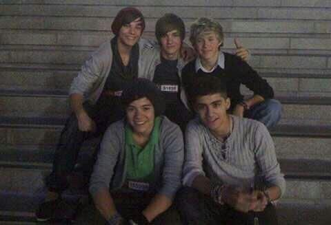 This was the first picture ever taken of One Direction. #Directioner since X Factor 2012