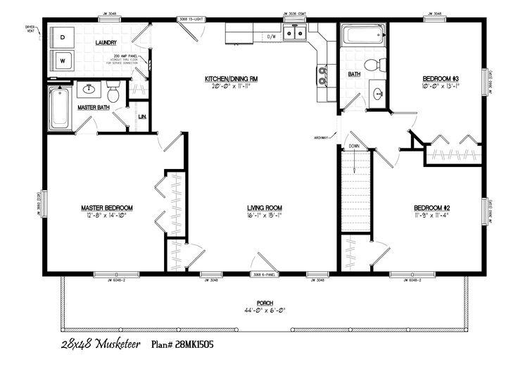28x48 floor plans floor matttroy for 28x48 house plans