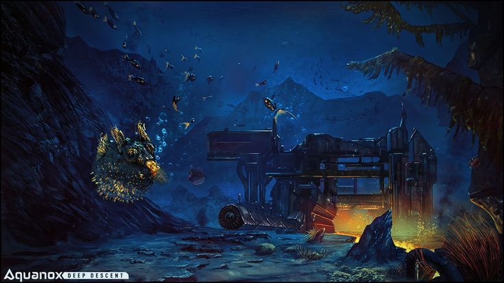 We hope you like this concept art showing an abandoned underwater research station!  #aquanox #deepsea #ocean #deep #exploration #fish #blowfish
