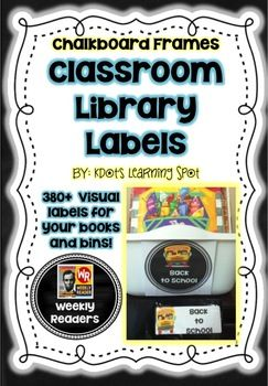 Chalkboard Library Book Labels – 380+Visual Book and Book