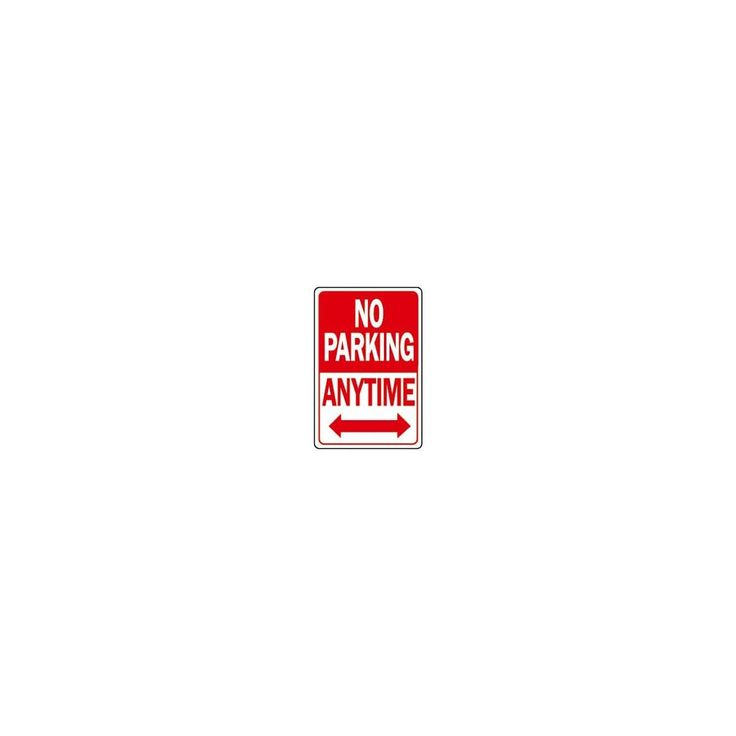 Hy-Ko 12X18 No Parking Sign, Silver aluminum