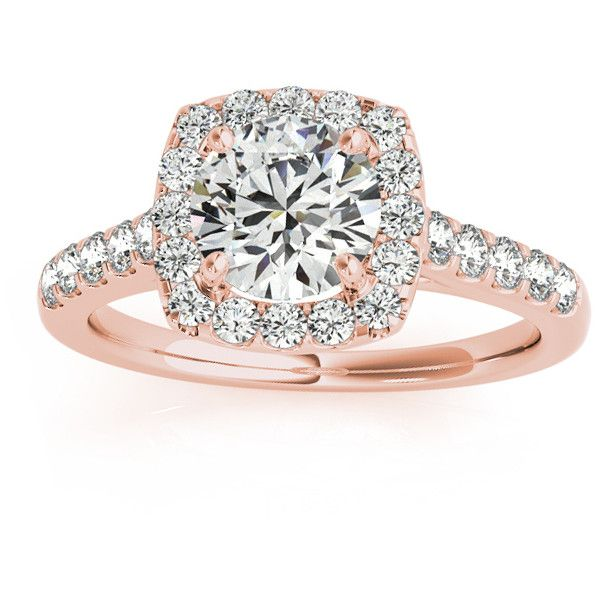Featuring a marvelous 26 sidestones, this 14k rose gold Allurez engagement ring is one of a kind. 5 diamonds flank each of the two sides of this semi-forever…