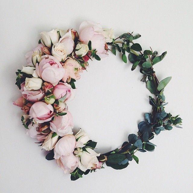 Peony wreath. @thecoveteur