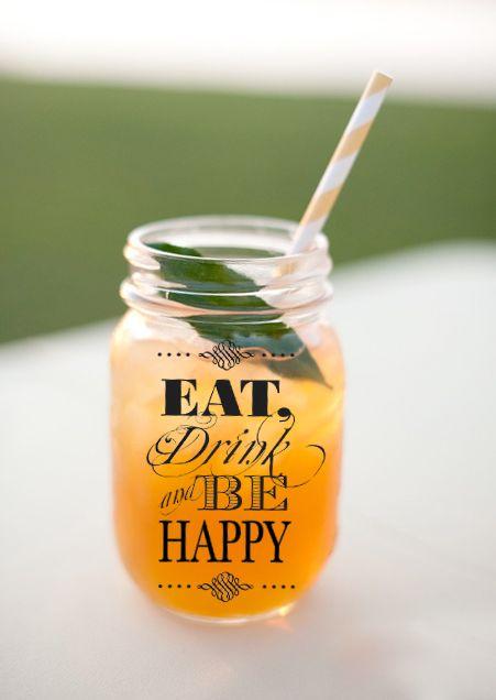 Mason Jars / Frascos de vidrio para bebidas, jugos y aguas/ Envases tarros de…