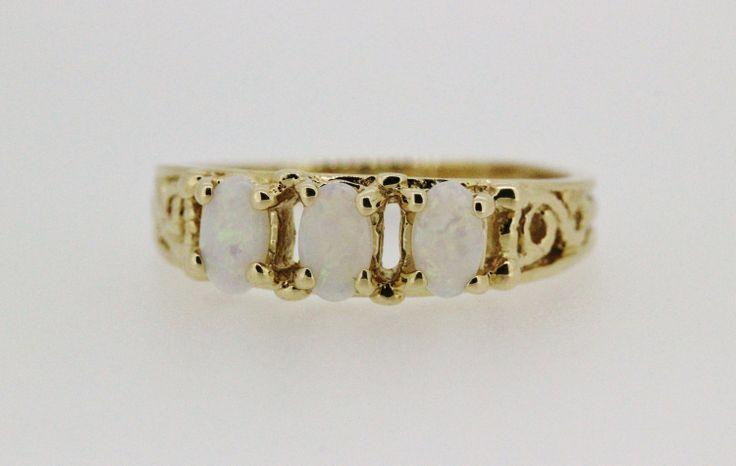 Vintage Opal Ring Filigree Ring 14k Yellow by FergusonsFineJewelry, $350.00