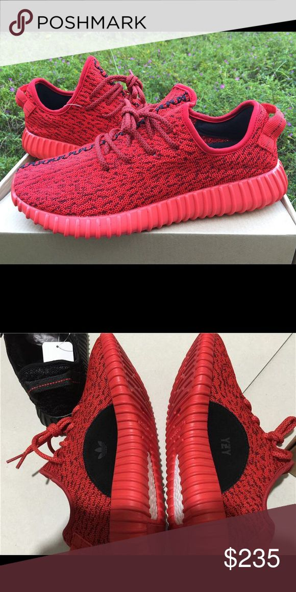 Red YEEZYS Red YEEZYS. Real. Only worn few times. I want a different color so selling these. 6.5/7 in women's :) Yeezy Shoes