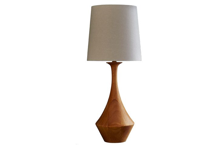 Natural hevea wood lamp base - Asilah from Copper & Silk