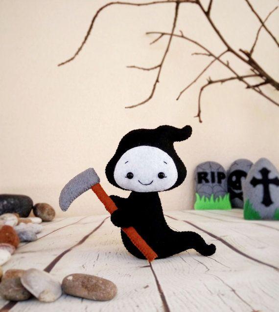 Fantôme de petite mort faucheuse Halloween ornements par BelkaUA