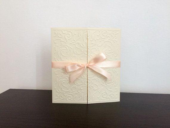 Elegant weeding invitations/ Handmade wedding by handmadebymaddy