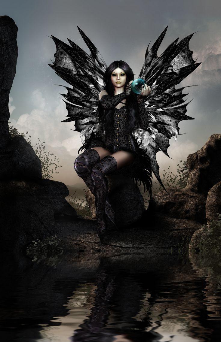Dark Fairy Fantasy Art | black magic fairy by capergirl42 digital art 3 dimensional art ...