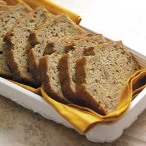Makeover Pineapple Zucchini bread.  Just made with flax and whole wheat flour.