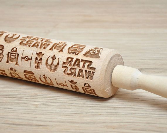 Hey, I found this really awesome Etsy listing at https://www.etsy.com/au/listing/260500534/star-wars-pattern-embossed-rolling-pin