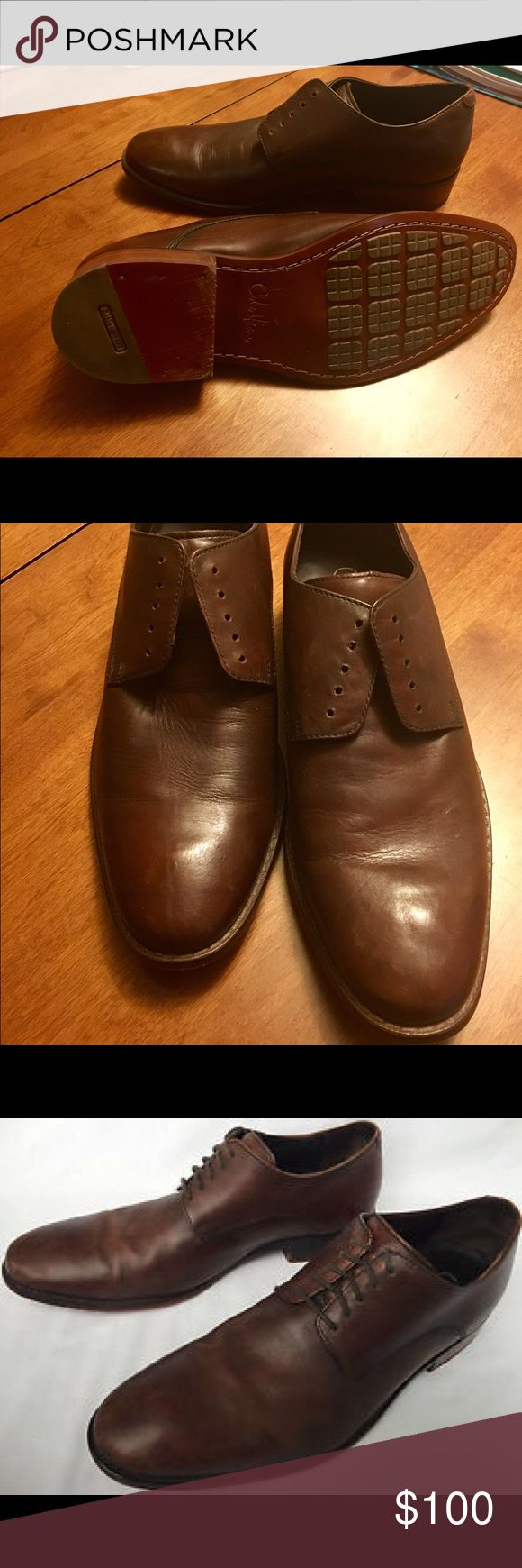 Cole Haan Air Coloton Oxford Shoes Cole Haan's Air Coloton Oxford Shoes. This pair has been worn 5-times and ended up just not being what my fiancé was looking for. This pair does not come with shoe laces. Originally sold for $198. Cole Haan Shoes Oxfords & Derbys