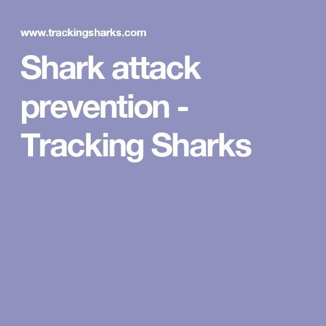 Shark attack prevention - Tracking Sharks