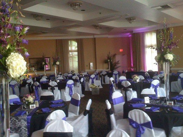 Black And White Purple Damask Weddings