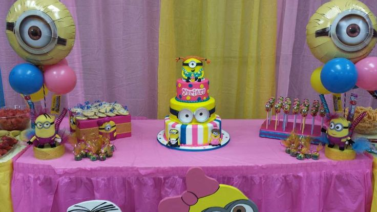pink minions Birthday Party Ideas | Photo 1 of 15 | Catch My Party