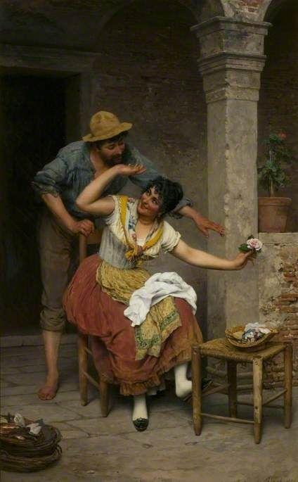 A Venetian Courtship (Eugene de Blaas - 1891)
