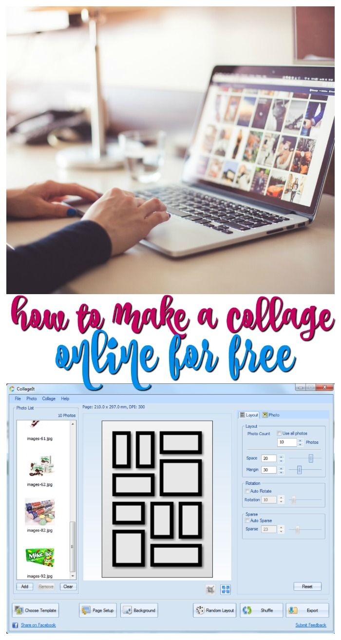 Make a Photo Collage Online Free With CollageIt via @ellenblogs