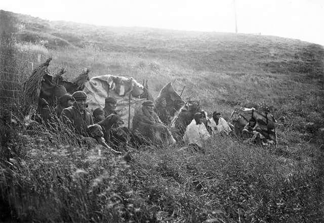 Familia Selk'nam,Tierra del Fuego,1910