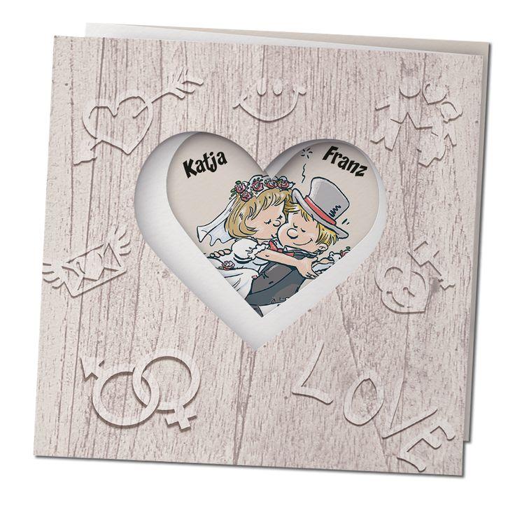Humorvolle Hochzeitseinladungen online bestellen bei Top-Kartenlieferant in Aachen.