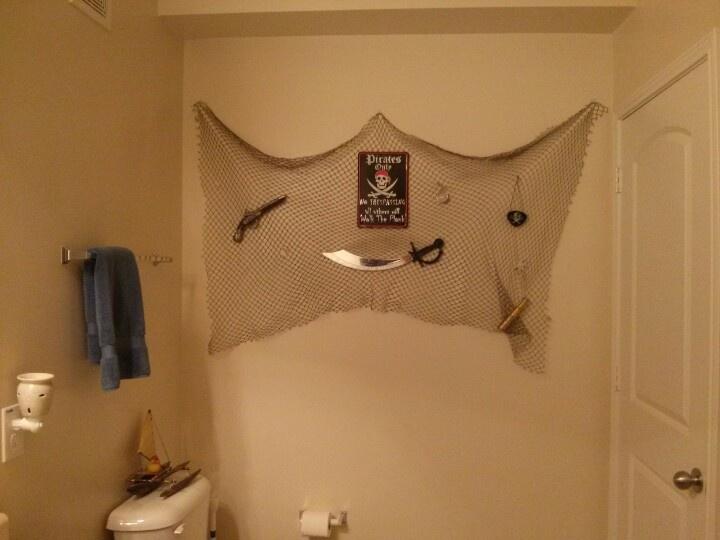 the pirate wall in progress
