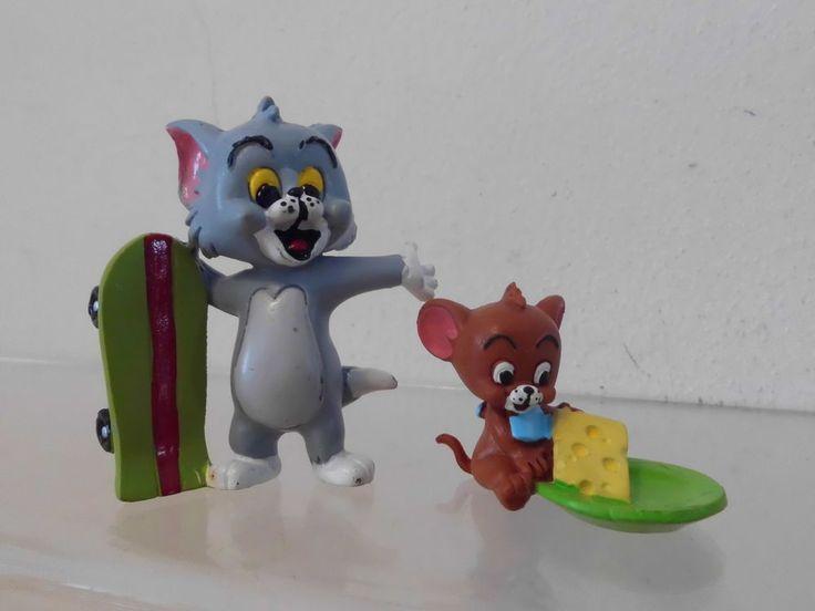 Tom und Jerry Kids Comics Spain 1992 2 x Figur: Tom mit Skateboard Jerry m.Käse  | eBay