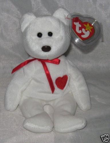 VALENTINO the Bear - Ty Beanie Baby - (Beanies, Babies)