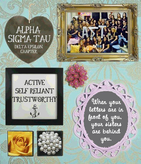 Alpha Sigma Tau | #Marist.. I wanna do something like this