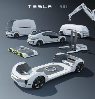 Tesla Pod Modulare autonome elektrische Plattform für private, öffentliche ode… – transport