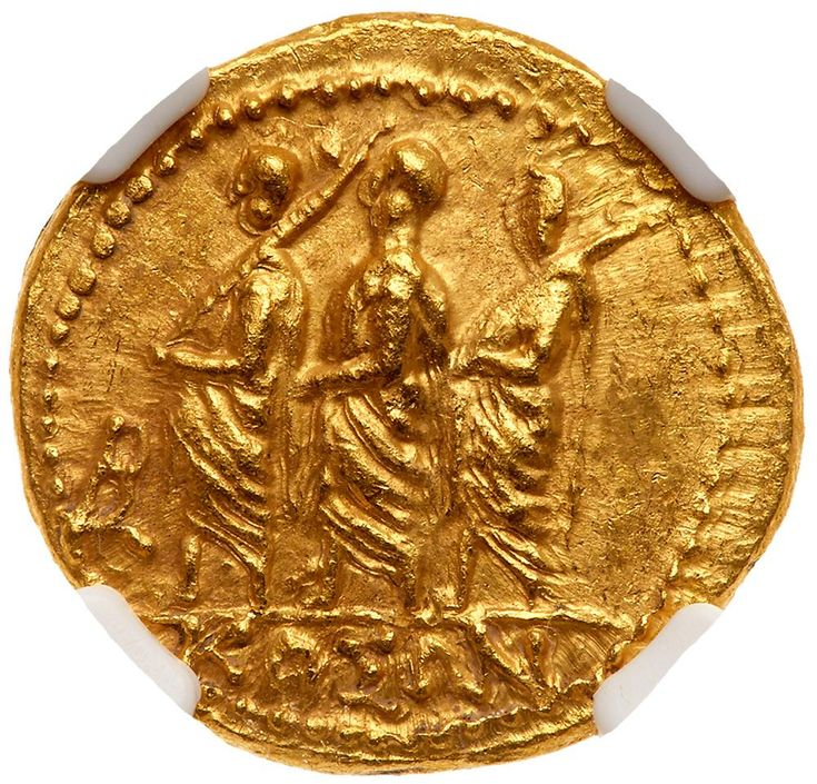 Skythia, Geto-Dacians. Koson. Gold Stater (8.31 g), mid 1st century BC KOΣΩN, Roman consul advancing left, accompanied by two lictors; in left field, monogram. Eagle with wings displayed standing left on scepter, holding wreath in talon. Iliescu 1; RPC 1701. . #Coins #Gold #Ancient #MADonC