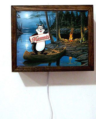 Hamm's Hamms Beer Bear Camping Tavern Bar Campfire Fire Light Lighted Sign…