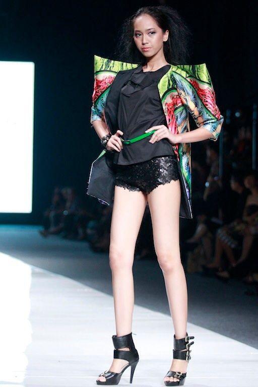 #BILLYTJONG Our 1st Ready To Wear Printed dress on Jakarta Fashion Week13 on Nov 2012 Look 7