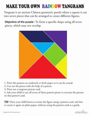 colorful tangram