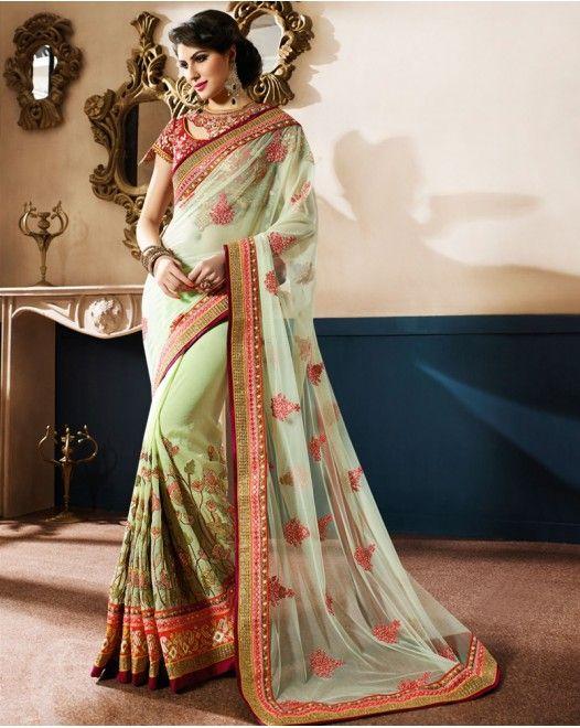 Impressive Green And Maroon Designer Saree  #designersareeswedding #latestdesignersarees #indiandesignersarees #designersareescouture #designersareesforgirls #designersarees2017 #floraldesignersarees #plaindesignersarees #whitedesignersarees #designersareespartywear #bollywooddesignersarees #simpledesignersarees #vogueindia #lakmefashionweek #bollywood #fashion #shopping #usa #india #indianwear