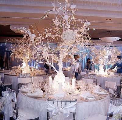 2652 best wedding centerpieces images on pinterest flower winter wonderland arches of balloons winter wonderland theme solutioingenieria Image collections
