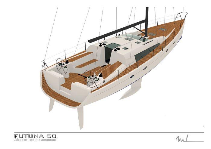 Futuna 50 Voilier Aluminium Composite Plan D Exterieur Marc Lombard Voilier Aluminium Faire De La Voile Petit Voilier