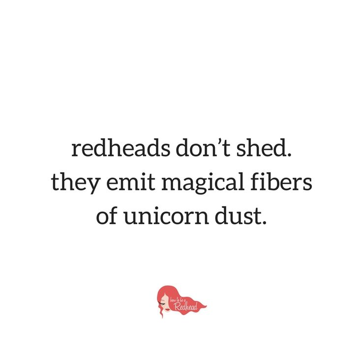 Do you find your red hair everywhere? Hair shedding happens more in the fall and winter season!