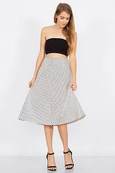 RATHER BE STRIPE SKIRT-DS-S2087