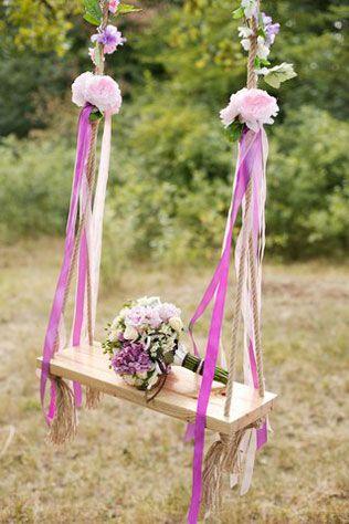 Вдохновение: качели на свадьбе