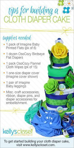 Tips For Building A Cloth Diaper Cake