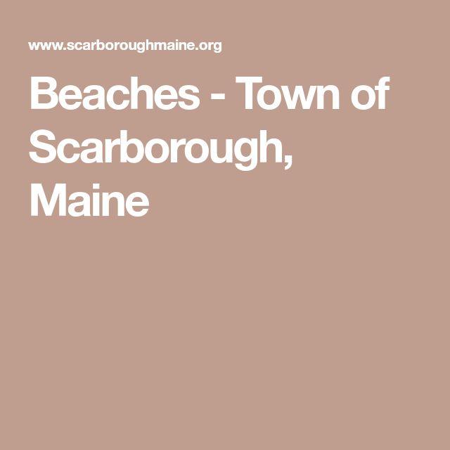 Beaches - Town of Scarborough, Maine