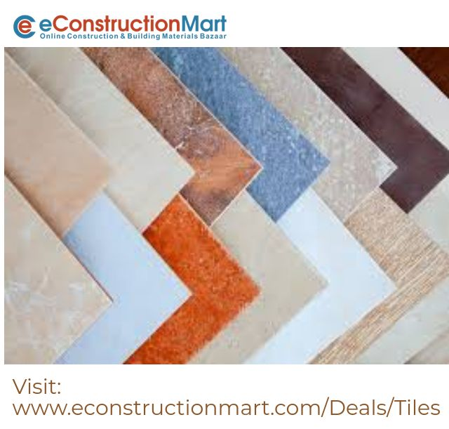 Get Best Tiles Prices & Deals, eConstructionMart offer various range of Wall, Floor, Vitrified, Ceramic & Glazed Tiles Online at low price in India. AGLTiles, JohnsonTiles, KajariaTiles, NitcoTiles, SimpoloTiles, SunheartTiles #tiles #wall_tile #ceramic_tiles #Tiles-Suppliers