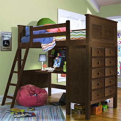 Costco Kenai Espresso Loft Bed With Study Desk Bunk
