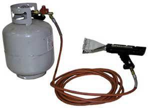 Ergonomic Packaging Equipment Carousels & Turntables - Material Handling Equipment Product Information - Propane Powered Shrink Wrap Heat Gun
