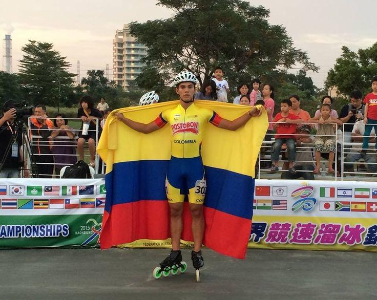 Jaime Uribe, capeón mundial de ruta en el circuito de 400 metros juveniles…